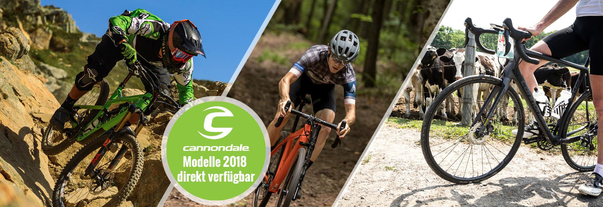 Cannondale Rennräder und Mountainbikes 2018, Caad12, Slate, Supersix, Synapse, Moterra