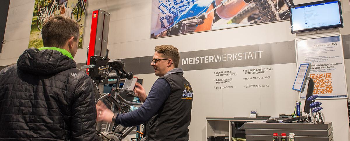 Fahrrad Denfeld Radsport Meisterwerkstatt mit Dialogannahme