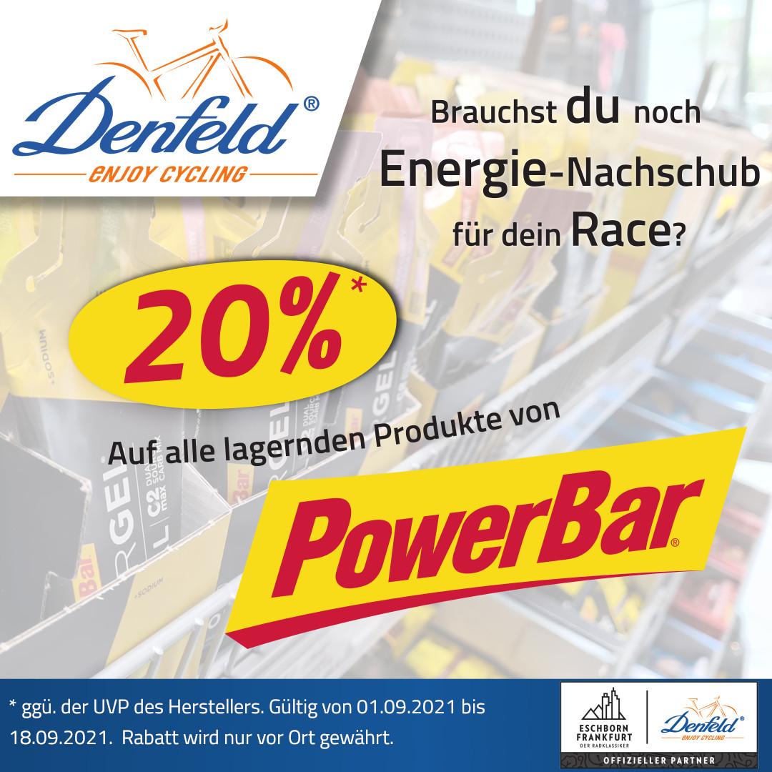 Powerbar Aktion bei DENFELD zu Eschborn Frankfurt 2021