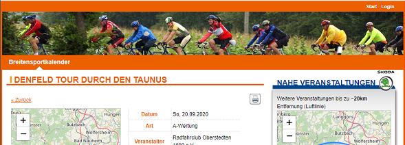 Breitensportkalender Screenshot