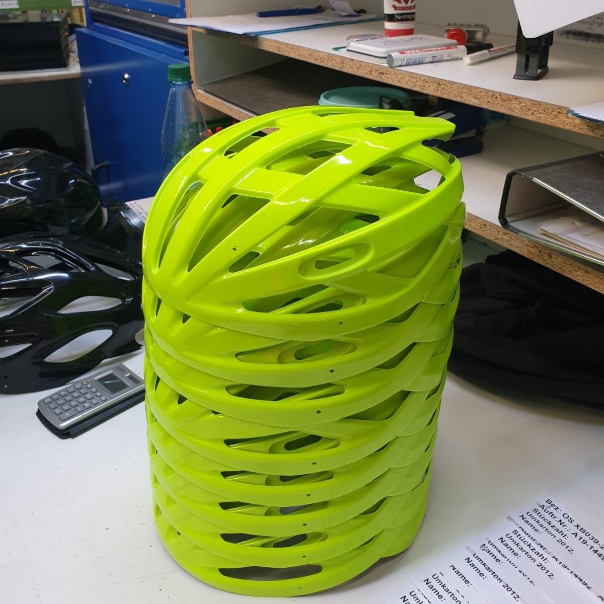 Helmoberschale in Form gepresst