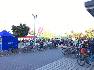 Veranstaltungsgelände Denfeld Bad Homburg zeigt Testbikes