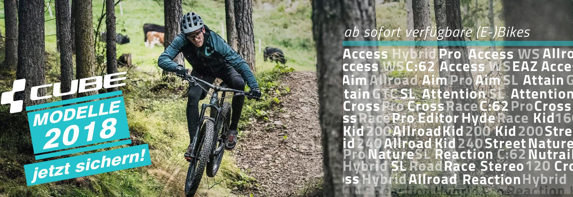 sofort Verfügbare Cube 2018 Fahrräder & E-Bikes bei Denfeld Bad Homburg